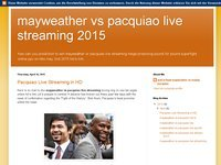 mayweather vs pacquiao live streaming 2015