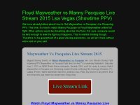 Floyd Mayweather vs Manny Pacquiao Live Stream 2015 Lsa Vegas (Showtime PPV)