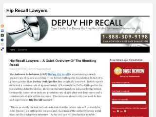 depuy hip recall lawyer