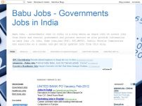 Babu Jobs - Governments Jobs in India