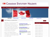 Canadian Statutory Holidays - Stat Holidays in CAN