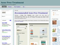 Acne Free Treatment Blog