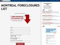 Montreal Foreclosure Lists