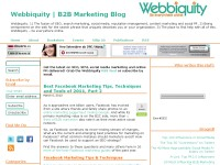 Webbiquity B2B Marketing Blog