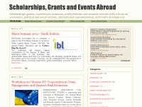 Scholarships, Grants and Events Abroad
