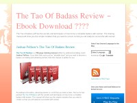 The Tao Of Badass Review – Ebook Download ????