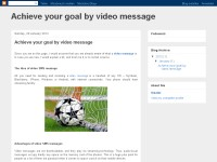 Achieve your goal by video message