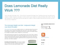 Does Lemonade Diet Really Work ???