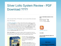 Silver Lotto System Review - PDF Download ????