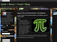 Geek + Music + Food = Blog