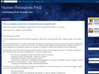 Human Resources FAQ
