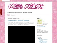 Miss Acidic - formal and informal reflections