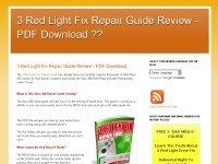 3 Red Light Fix Repair Guide Review - PDF Download
