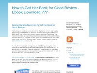 How to Get Her Back for Good Review - Ebook Downlo