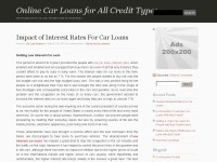 Online Car Loan for Bad Credit, No Credit