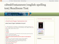 odesktestanswer/english spelling test/readiness test