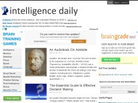Intelligence Daily: Boost Your Brain