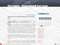 Car Loans - Guaranteed Car Loan
