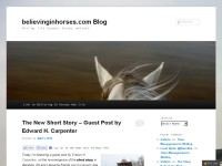 Believing In Horses -writing, life lessons, horses