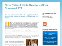 Grow Taller 4 Idiots Review - eBook Download ???
