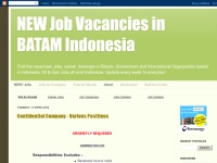 NEW Job Vacancies in BATAM Indonesia