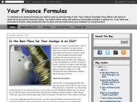 Your Finance Formulas