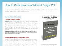 How to Cure Insomnia Without Drugs ???