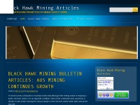 Black Hawk Mining Articles