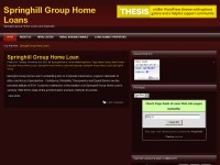 Springhill Group Home Loans