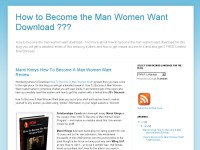 How to Become the Man Women Want Download ???