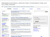 Freshers Job Portal, Private Jobs, Government Job