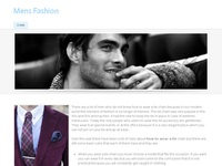 Detailing men fashion