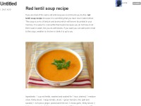 Easy to learn soup recipes