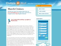 March cruises