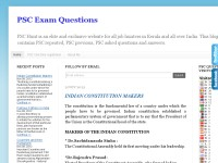 Kerala PSC Previous Exam Questions