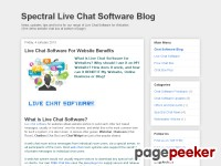 Spectral Chat Room Software Blog