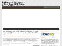 Baltimore Ravens vs 49ers Live NFL Super Bowl 2013