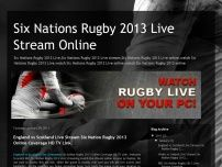 Six Nations Rugby 2013 Live Stream Online