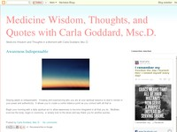 Medicine Wisdom and Thoughts in a Moment
