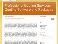 Professional Quoting Services, Quoting Software an