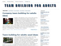 Team building for adults