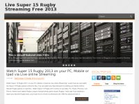Live Super 15 Rugby Streaming Free 2013 online TV