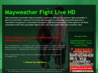 Mayweather Fight Live HD