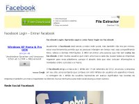 Facebook Login - Entrar no Facebook