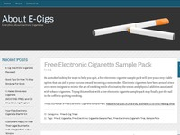 About E-Cigs Everything About Electronic Cigarette