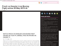 Froch vs Kessler Live Boxing Fight online May 25 .