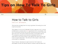 Tips on How To Talk To Girls
