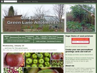 Our plot at Green Lane Allotments & Ossett garden