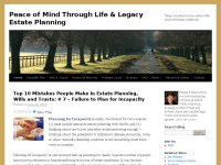Peace of Mind Through Life & Legacy Estate Plan