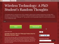 Wireless Technology PhD Student's Random Thoughts